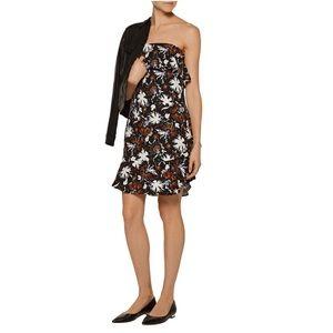 A.L.C. ruffled printed silk mini dress
